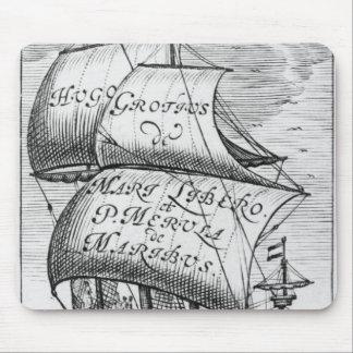 Frontispiece to 'De mari libero', by Hugo Grotius Mouse Pad