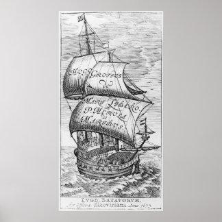 Frontispiece to 'De mari libero', by Hugo Grotius Poster