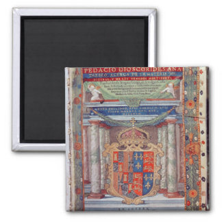 Frontispiece to Dioscorides 2 Inch Square Magnet