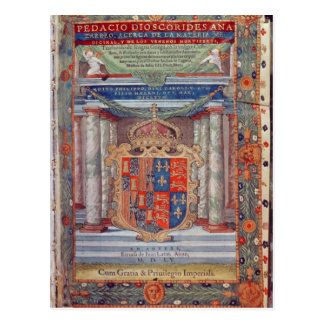 Frontispiece to Dioscorides Postcard