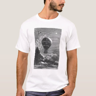 Frontispiece to 'Five Weeks in a Balloon' T-Shirt