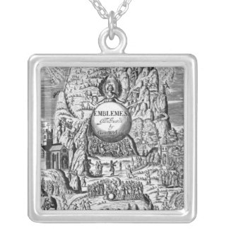 Frontispiece to George Wither's 'Emblems', 1635 Square Pendant Necklace