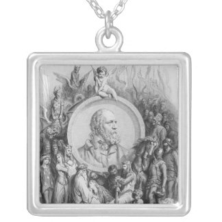 Frontispiece to 'Idylls of the King' Square Pendant Necklace