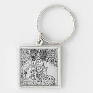 Frontispiece to 'Il Monte Sancto di Dio', 1477 Keychain