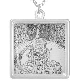 Frontispiece to 'Il Monte Sancto di Dio', 1477 Square Pendant Necklace