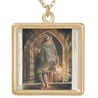 Frontispiece to 'Jerusalem' (Bentley Copy E) 1804- Square Pendant Necklace