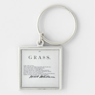 Frontispiece to 'Leaves of Grass' Keychain