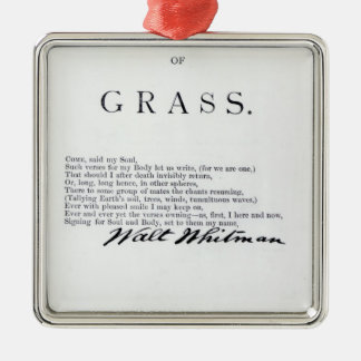 Frontispiece to 'Leaves of Grass' Metal Ornament