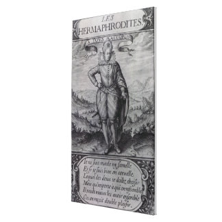 Frontispiece to 'Les Hermaphrodites' Canvas Print