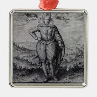 Frontispiece to 'Les Hermaphrodites' Metal Ornament