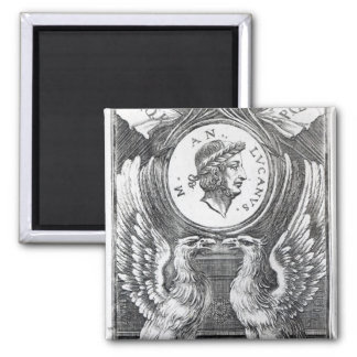 Frontispiece to 'Lucan's Pharsalia' 2 Inch Square Magnet
