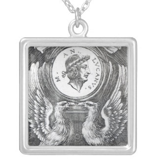 Frontispiece to 'Lucan's Pharsalia' Square Pendant Necklace