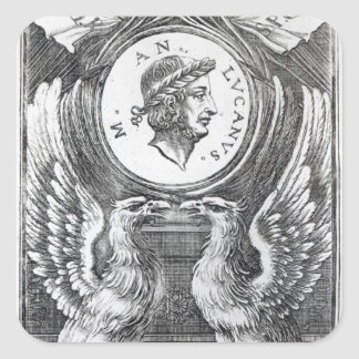 Frontispiece to 'Lucan's Pharsalia' Square Sticker