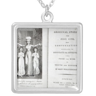 Frontispiece to 'Original Stories from Real Square Pendant Necklace