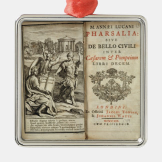 Frontispiece to 'Pharsalia' Metal Ornament