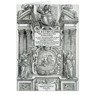 Frontispiece to 'Quattro libri dell'architettura' Card
