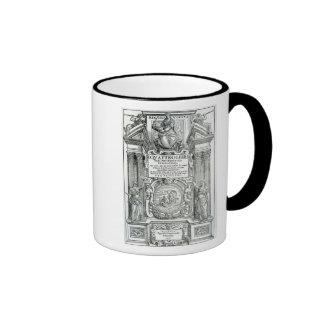 Frontispiece to 'Quattro libri dell'architettura' Ringer Coffee Mug