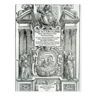 Frontispiece to 'Quattro libri dell'architettura' Postcard