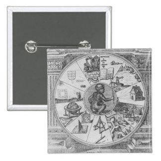 Frontispiece to Robert Fludd's Utriusque Pinback Button