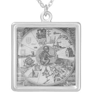 Frontispiece to Robert Fludd's Utriusque Square Pendant Necklace