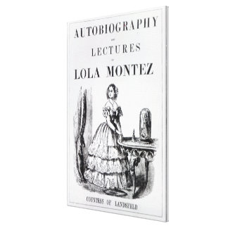 Frontispiece to the 'Autobiography Canvas Print