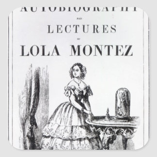 Frontispiece to the 'Autobiography Square Sticker