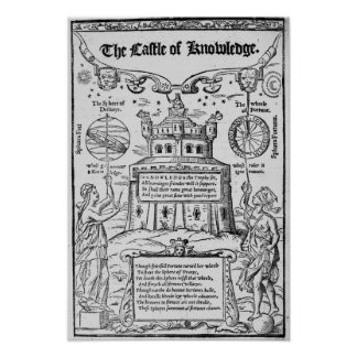 Frontispiece to 'The Castle of Knowledge' Poster