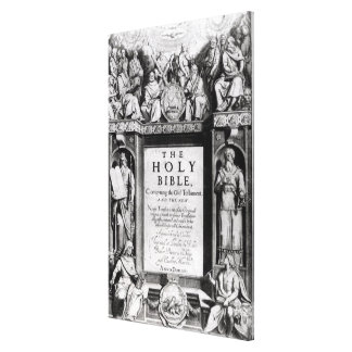 Frontispiece to 'The Holy Bible' Canvas Print