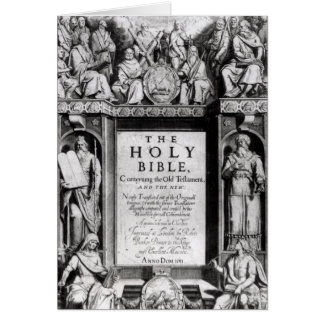 Frontispiece to 'The Holy Bible' Card
