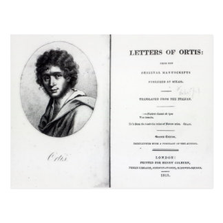 Frontispiece to 'The Letters of Ortis' Postcard