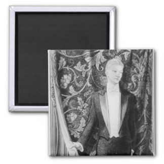 Frontispiece to 'The Picture of Dorian Gray' 2 Inch Square Magnet