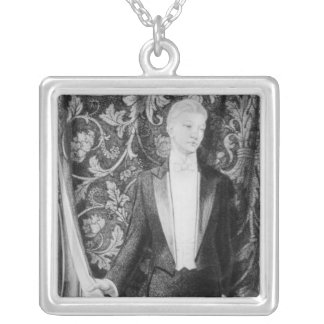 Frontispiece to 'The Picture of Dorian Gray' Silver Plated Necklace