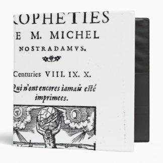 Frontispiece to 'The Prophecies 3 Ring Binders