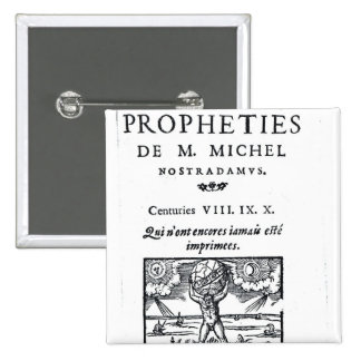 Frontispiece to 'The Prophecies Pinback Button