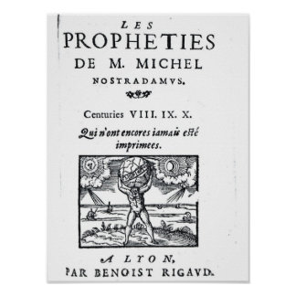 Frontispiece to 'The Prophecies Poster