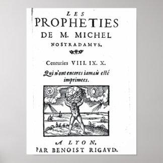 Frontispiece to 'The Prophecies Print