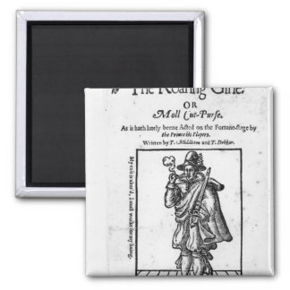 Frontispiece to 'The Roaring Girle' 2 Inch Square Magnet
