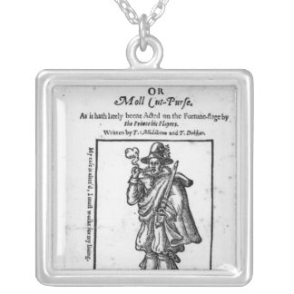 Frontispiece to 'The Roaring Girle' Silver Plated Necklace