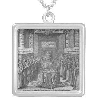 Frontispiece to 'Vox Regis' by Thomas Scott Square Pendant Necklace