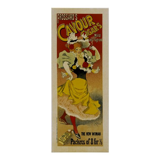 Frossard's Cavour Cigars Ad Posters