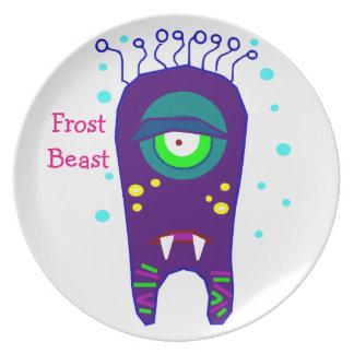 Frost Beast Monster Kids Melamine Plate