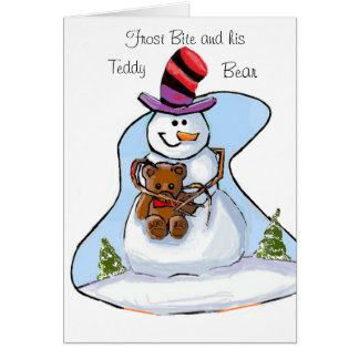 FROST BITE AND TEDDY BEAR CARD