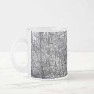 frost bite 10 oz frosted glass coffee mug