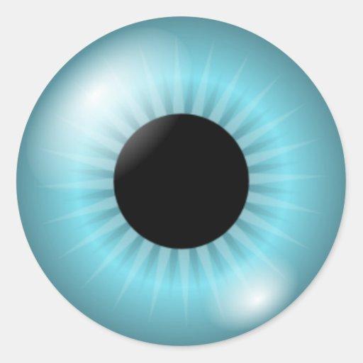 Frost Blue Eye Round Stickers