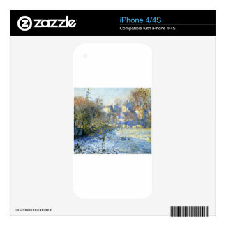 Frost by Claude Monet iPhone 4 Decal