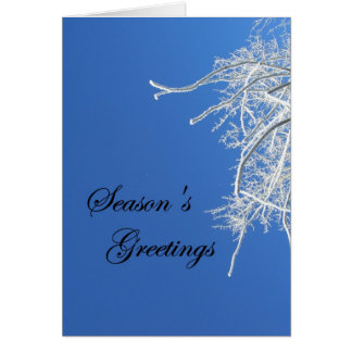Frost Cover Tree Season's Greetings Card