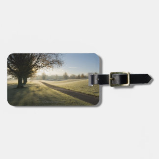 Frost-Covered Golf Course Luggage Tag