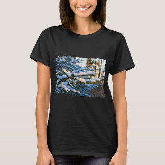 Frost Covered Pine Tree Branches T-Shirt