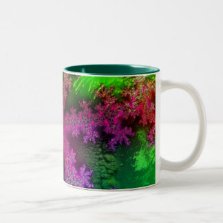 Frost Crystals Two-Tone Coffee Mug