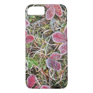 Frost cubrió las hojas, Canadá Funda iPhone 7